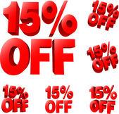 Discount sale sign — Stock Vector