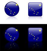 Alaska Icon on Internet Button — Stock Vector