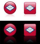 Arkansas Icon on Internet Button — Stock Vector