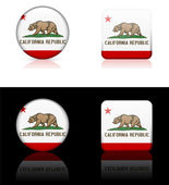 California Icon on Internet Button — Stock Vector