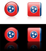 Tennessee Flag Icon on Internet Button — Stock Vector