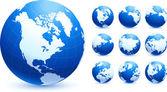 Collezione globo — Vettoriale Stock