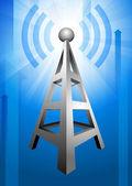 Radio on Blue Arrow Background — Stock Vector