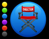Director chair icon on round internet button — Stock Vector