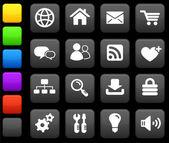 Internet design icon set — Stock Vector