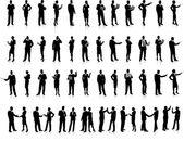 Unternehmen silhouette set super 52 einzigartige hoch-detaillierte sil — Stockvektor