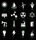 Environmental icons set — Stock Vector