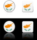 Cyprus Flag Buttons on White and Black Background — Stock Vector