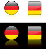 Germany Flag Buttons on White and Black Background — Stock Vector