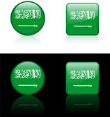 Saudi Arabia Flag Buttons on White and Black Background — Stock Vector