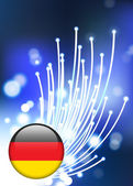 Germany Internet Button with fiber optic background — Stock Vector
