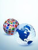 Globe Set — Stock Vector