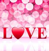 Valentine's Day Love Background — Stock vektor
