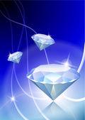 Diamante su sfondo chiaro astratta — Vettoriale Stock