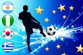 Evento mundial fútbol grupo b — Vector de stock