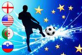 Evento do futebol mundial grupo c — Vetor de Stock