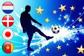 世界的なサッカー イベント グループ e — ストックベクタ