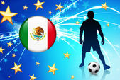 Mexico voetbalspeler op abstracte lichte achtergrond — Stockvector