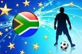 Açık renkli internet tuşu ile futbol oyuncu — Stok Vektör