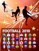 Global Soccer Event on Abstract Light Background — Stock Vector