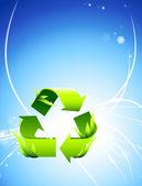 Recycle символ на абстрактных светлом фоне — Cтоковый вектор