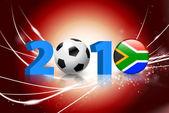 Evento mundial de fútbol 2010 en fondo claro resumen — Vector de stock