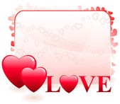 Valentine's Day Love Background — Stock Vector