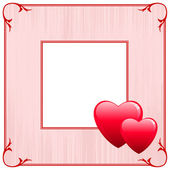 Valentine's Day Love Frame — Stock Vector