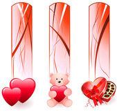 Día de san valentín banners — Vector de stock