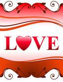 Valentine's Day Love Background — 图库矢量图片