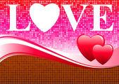 Priorità bassa di amore di San Valentino — Vettoriale Stock