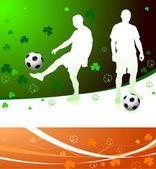 アイルランドのサッカー選手 — ストックベクタ