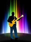 Músico ao vivo sobre fundo abstrato do espectro — Vetorial Stock