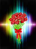 Roses on Abstract Frame Background — Cтоковый вектор