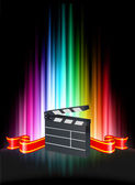 Clapper on Abstract Spectrum Background — 图库矢量图片