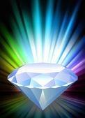 Diamante su sfondo astratto spettro — Vettoriale Stock