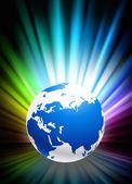 Soyut spektrum zemin üzerinde küre — Stockvector