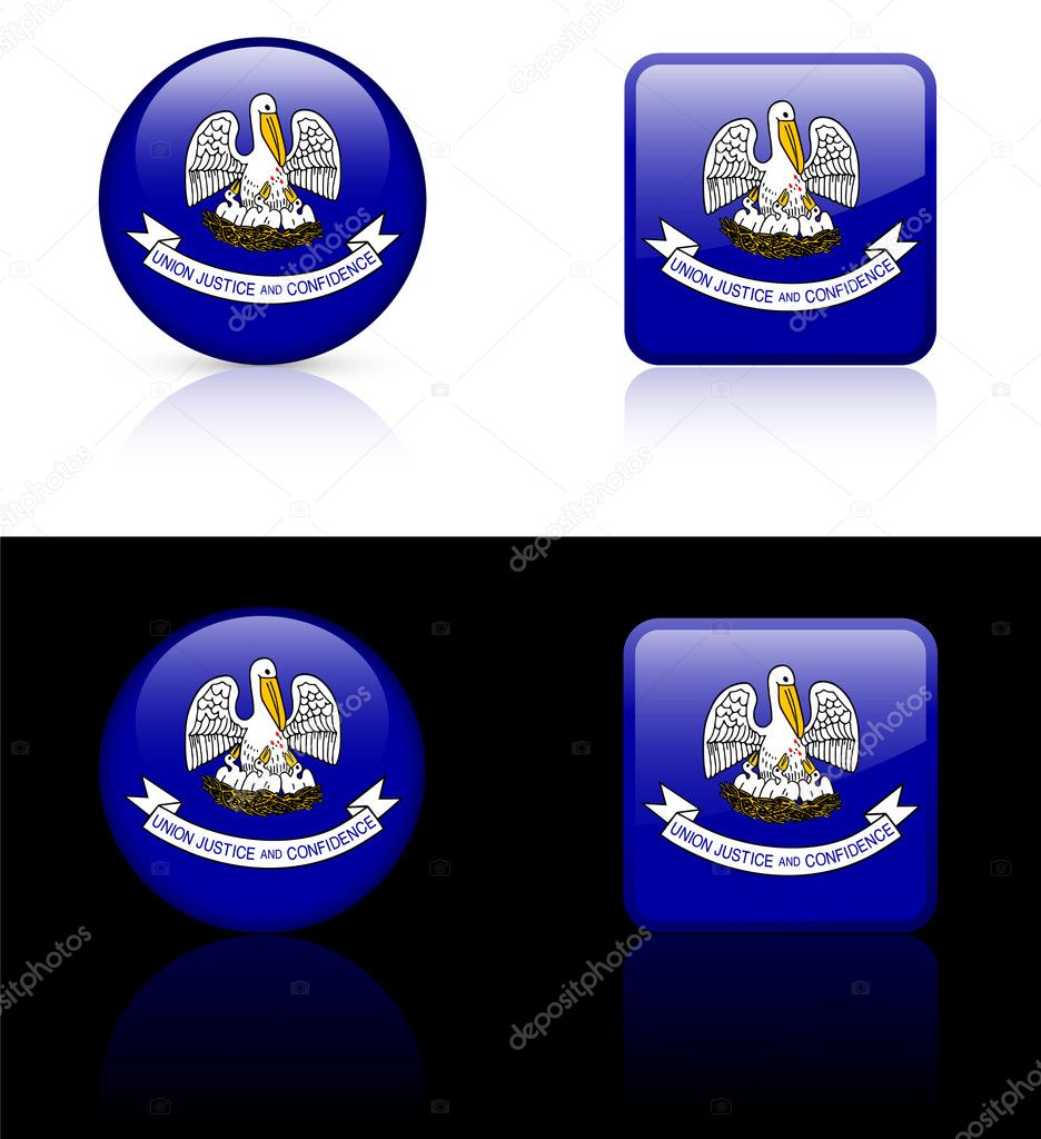 Louisiana Flag Icon on Internet ButtonOriginal Vector IllustrationAI8 Compatible — Векторная иллюстрация #6505850