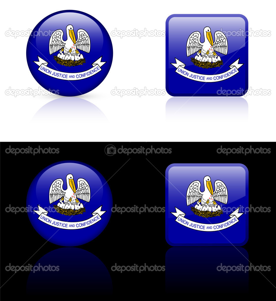 Louisiana Flag Icon on Internet ButtonOriginal Vector IllustrationAI8 Compatible — Stock Vector #6505850