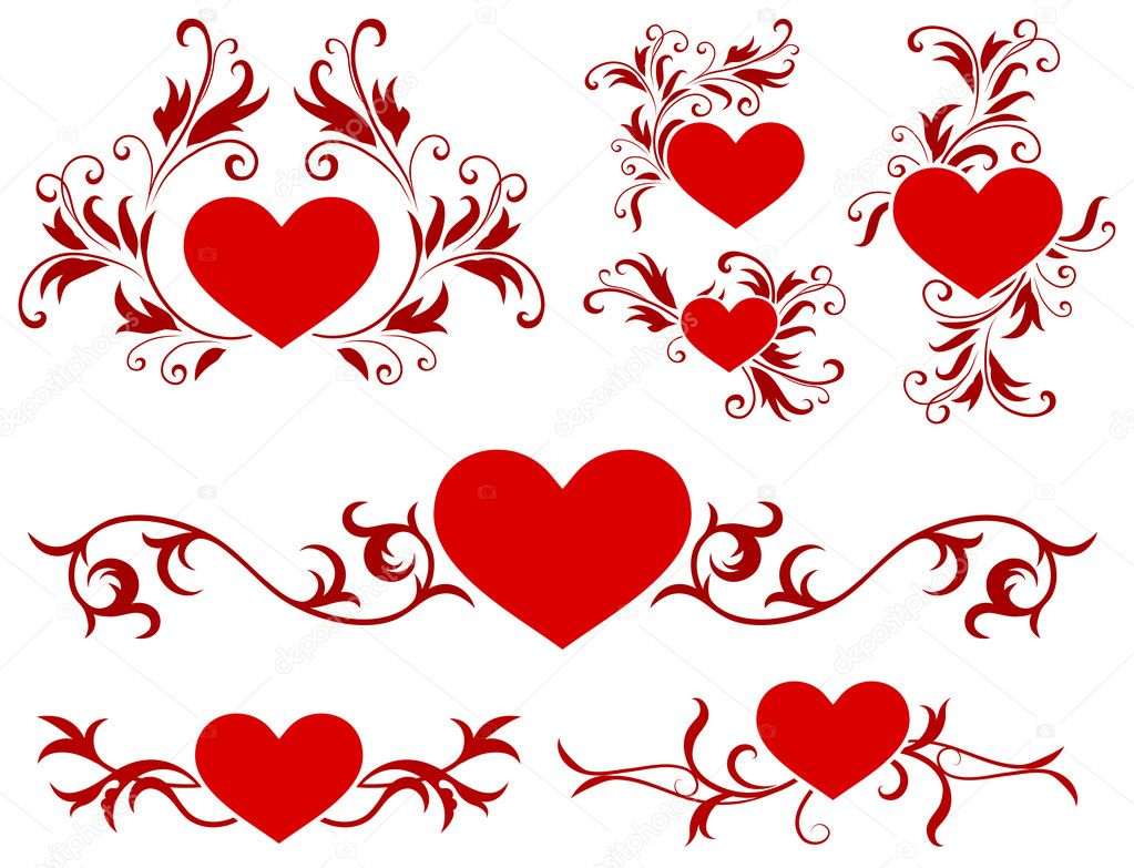Valentine's Day Heart Design CollectionOriginal Vector Illustration — Stock Vector #6508138