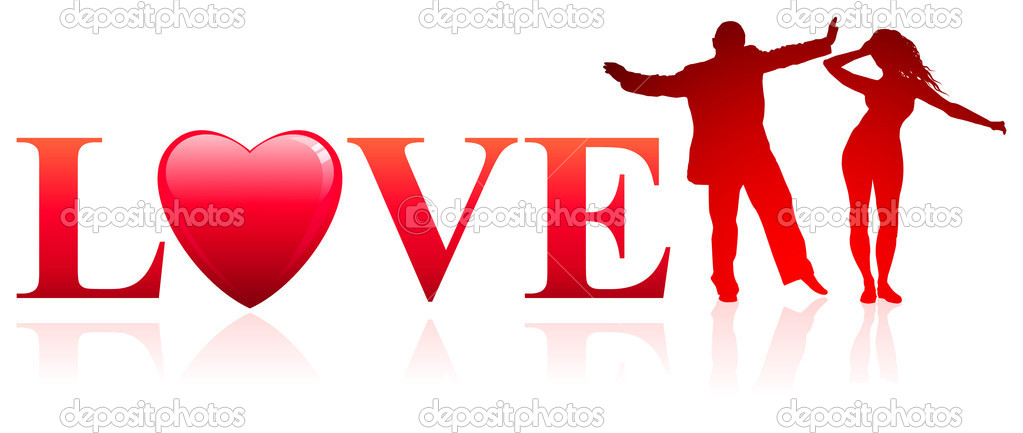 Couple with Love backgroundOriginal Vector Illustration — 图库矢量图片 #6509410