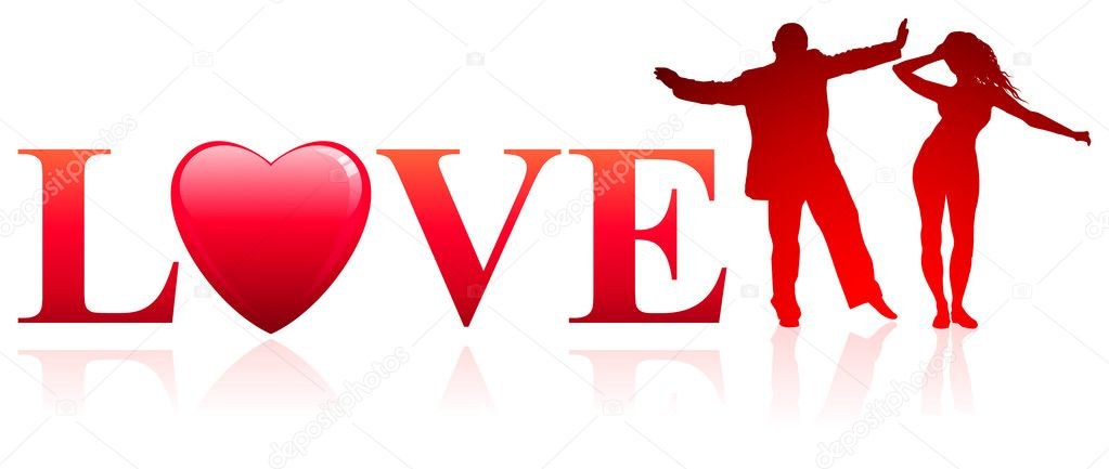 Couple with Love backgroundOriginal Vector Illustration — Imagen vectorial #6509410