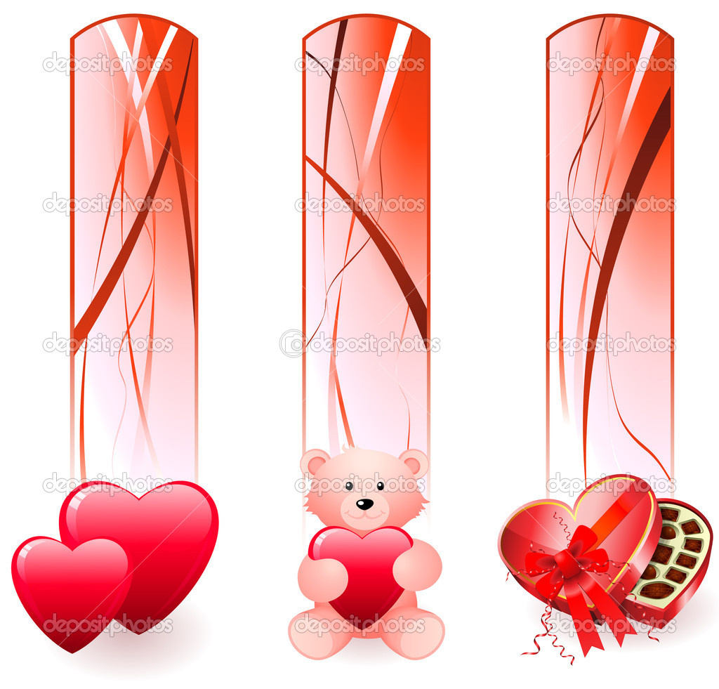 Valentine's Day BannersOriginal Vector Illustration  Stock Vector #6509479