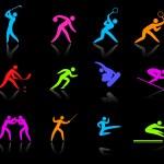 competative ve Olimpiyat spor simgesi toplama — Stok Vektör #6510161