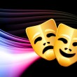 Постер, плакат: Comedy and Tragedy Abstract Color Background