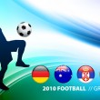 World Soccer Football Group D on Abstract Color Background - Stock Vector
