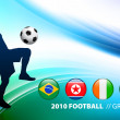 World Soccer Football Group G on Abstract Color Background — Stock Vector #6510521