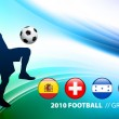 World Soccer Football Group H on Abstract Color Background - Stock Vector