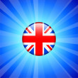 Britain Flag Icon on Internet Button — Stock Vector #6510769