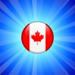Canada Flag Icon on Internet Button — Stock Vector